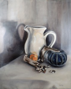 "24x30"" OIl on canvas. Find it on Etsy here,https://www.etsy.com/listing/175459185/original-still-life-oil-painting-pitcher?ref=shop_home_active_3"