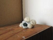 object5. clay, slag glass, wool